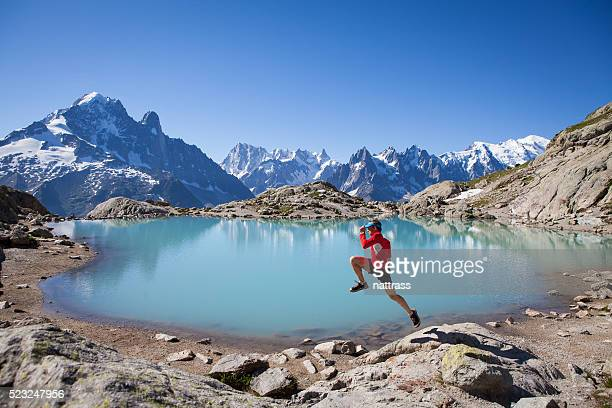 Running for joy at Lake Blanc Chamonix