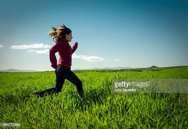 Running freely.