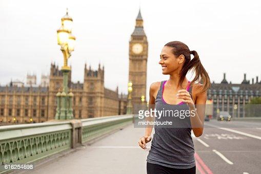 running in London : Stock Photo