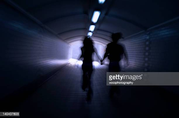 Course dans la lumière