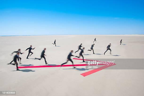 Laufen in die gleiche Richtung