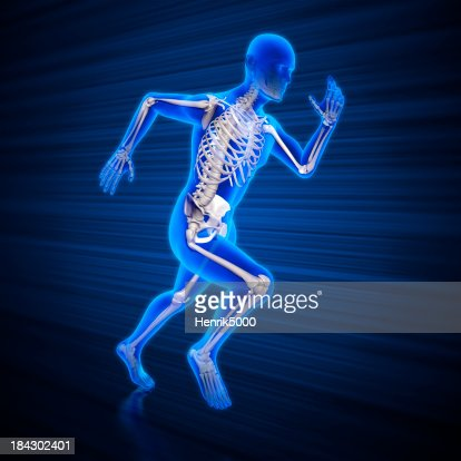 Running man x-ray with clipping path