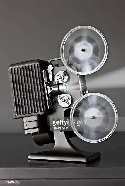 running movie projector