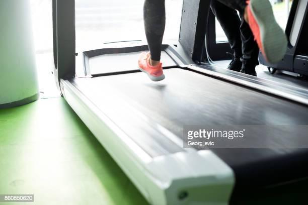 Running on treadmil