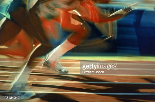 PERBE031 Running race : Stock Photo
