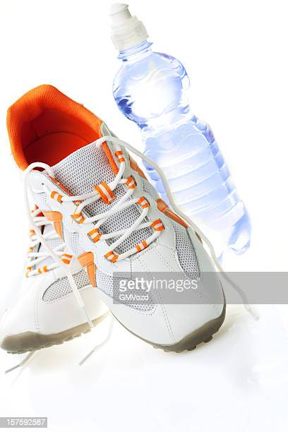 Running shoes and fresh water