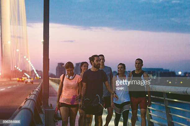 Running Team Walking.