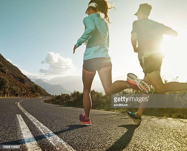 Laufen zu entfliehen Sie dem Alltag