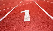 Running track number 1 in sport field