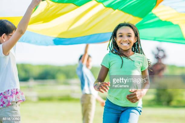 Running Under Parachute
