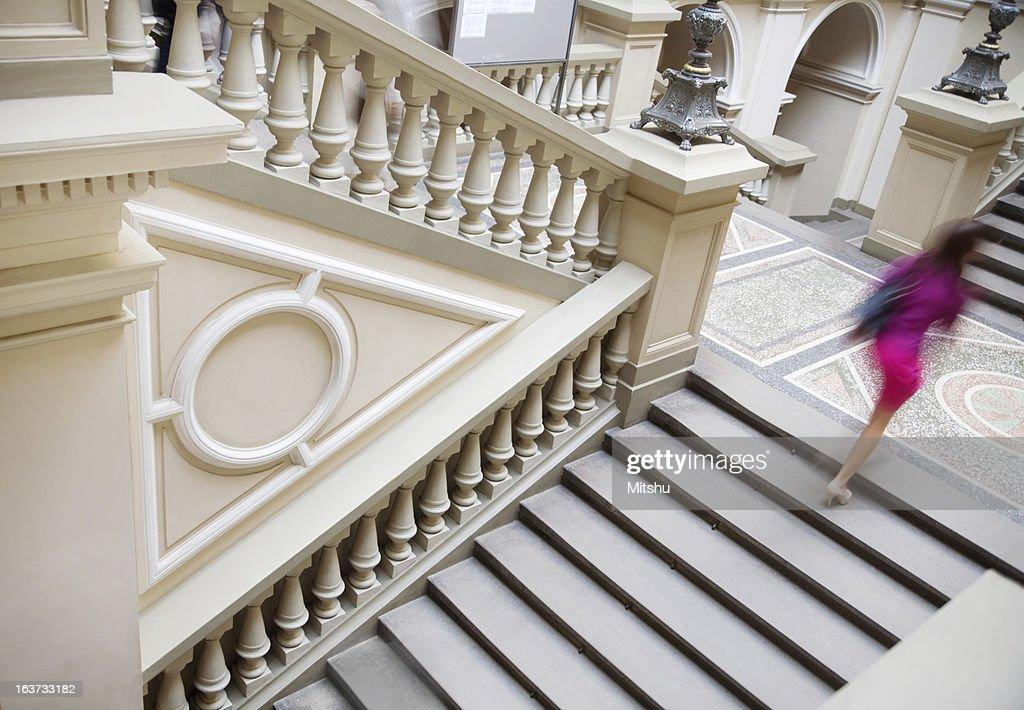 Laufen Sie die Treppe : Stock-Foto