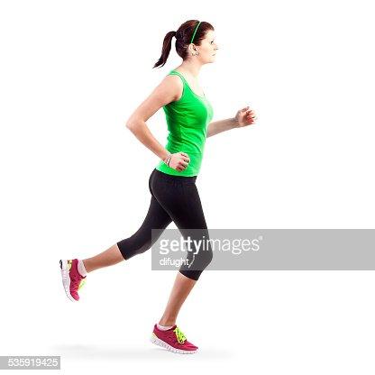 Running woman : Stock Photo