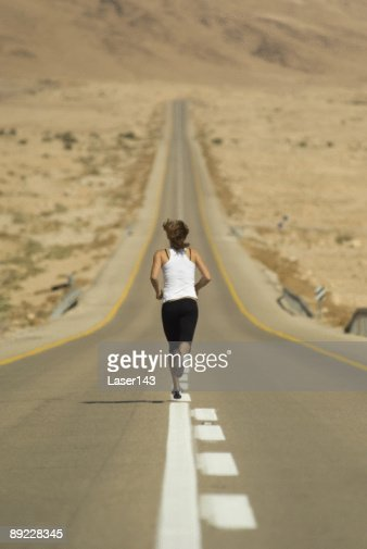Running young girl : Stock Photo