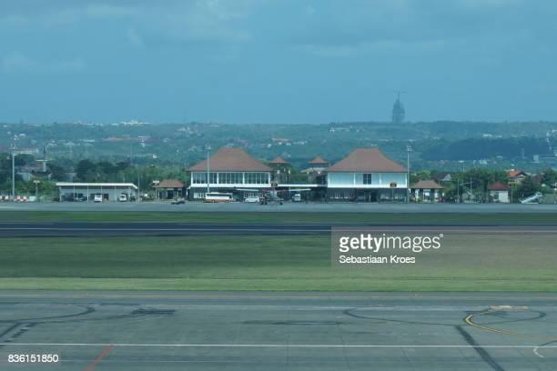 Runway and Small Terminal at Ngurah Rai International Airport, Bali, Indonesia