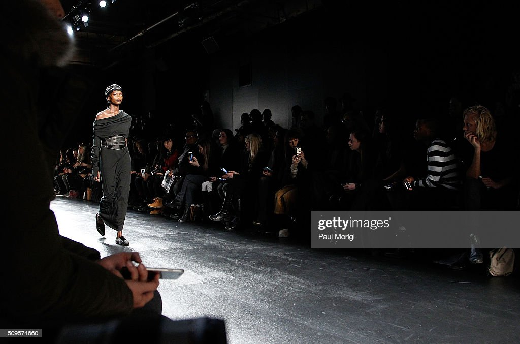 Runway atmosphere at the Nicholas K Fall 2016 Fashion Show during New York Fashion Week: The Shows at The Dock, Skylight at Moynihan Station on February 11, 2016 in New York City.