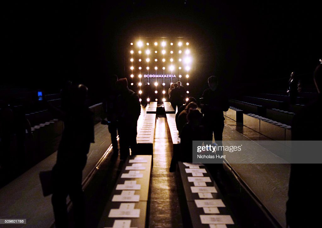 Runway being prepped for the BCBGMAXAZRIA show during Fall 2016 New York Fashion Week: The Shows at The Arc, Skylight at Moynihan Station on February 11, 2016 in New York City.