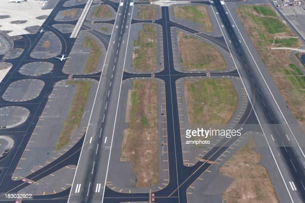 runways aerail view