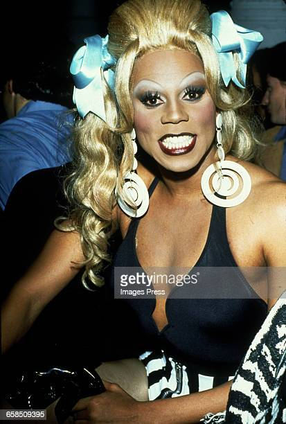 RuPaul attends Todd Oldham's fashion show circa 1993 in New York City