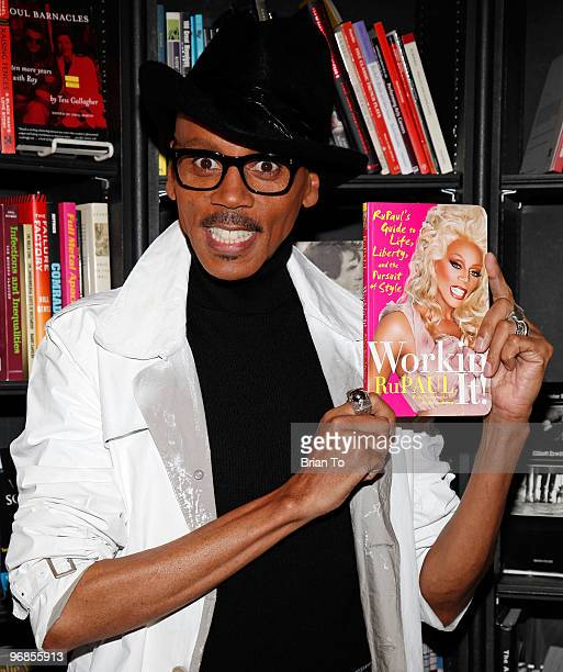 RuPaul signs copies of his new book 'Workin' It' at Book Soup on February 18 2010 in West Hollywood California