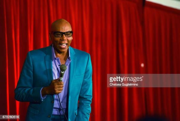 RuPaul speaks onstage during 3rd Annual RuPaul's DragCon day 2 at Los Angeles Convention Center on April 30 2017 in Los Angeles California