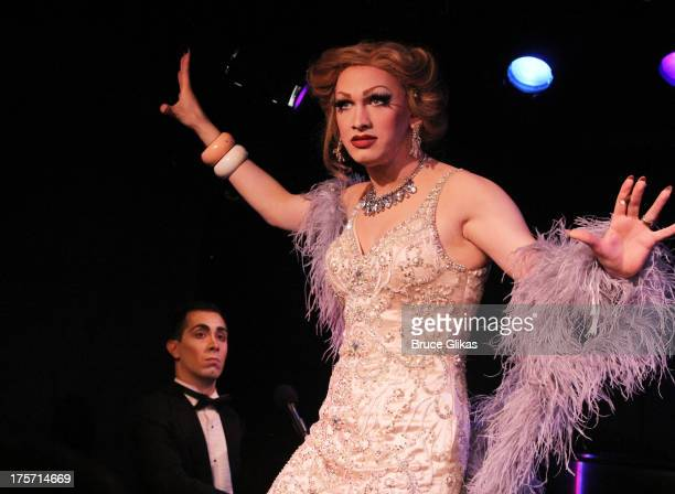 'RuPaul's Drag Race' Season 5 winner Jinkx Monsoon and Major Scales perform in the offbroadway musical comedy 'The Vaudevillians' at The Laurie...