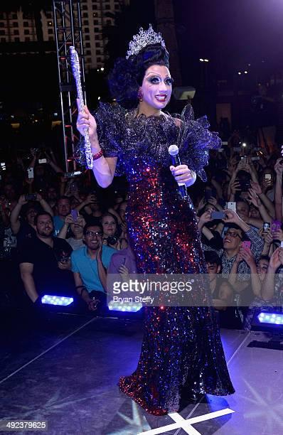 'RuPaul's Drag Race' season six winner Bianca Del Rio celebrates after she was declared the winner of season six of 'RuPaul's Drag Race' during a...