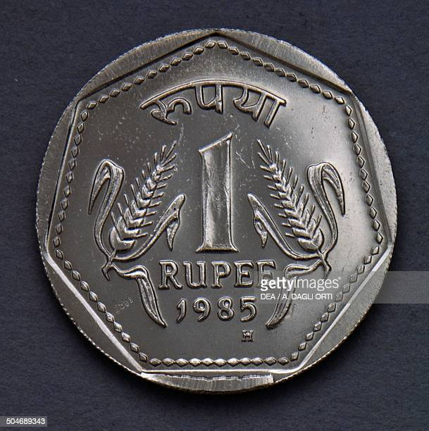 1 rupee coin reverse India 20th century