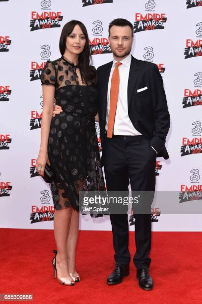 Rupert Evans and Olivia Bennet attend the THREE Empire awards at The Roundhouse on March 19 2017 in London England