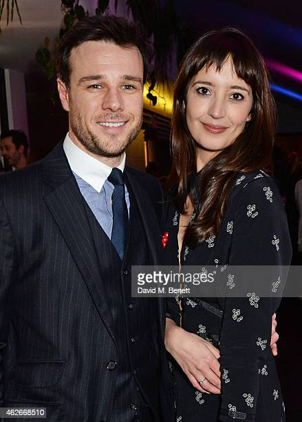 Rupert Evans and Olivia Bennett attend the InStyle and EE Rising Star Party in association with Lancome Karen Millen and Sky Living at The Ace Hotel...