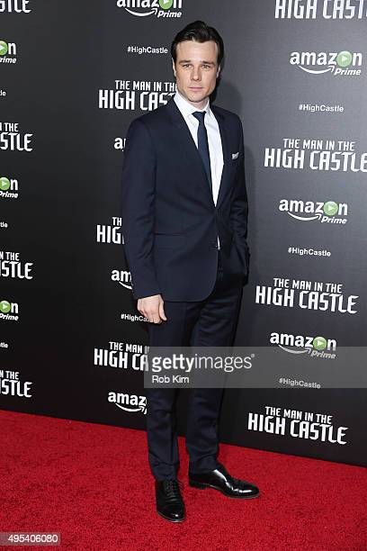 Rupert Evans attends the New York Series premiere of 'The Man In The High Castle' at Alice Tully Hall on November 2 2015 in New York City