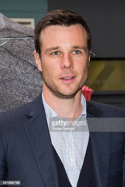 Rupert Evans attends the press night for 'The Curious Incident Of The Dog In The NightTime' at Gielgud Theatre on July 8 2014 in London England