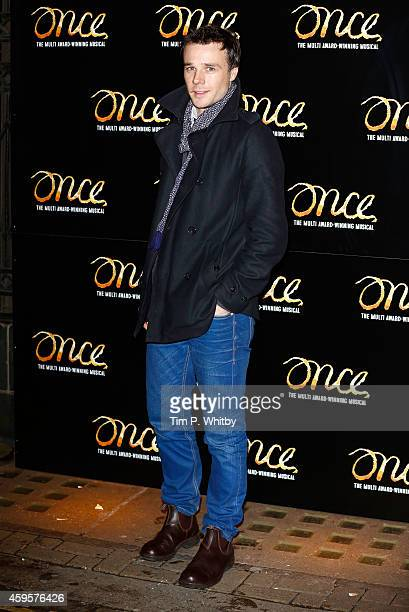 Rupert Evans attends the press night of 'Once' as Ronan Keating joins the cast at Phoenix Theatre on November 25 2014 in London England