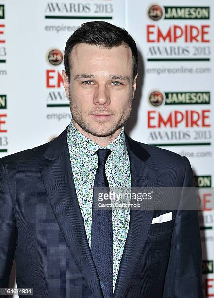 Rupert Evans is pictured arriving at the Jameson Empire Awards at Grosvenor House on March 24 2013 in London England