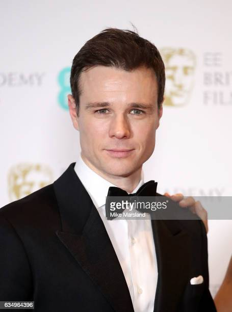 Rupert Evans poses in the winners room at the 70th EE British Academy Film Awards at Royal Albert Hall on February 12 2017 in London England