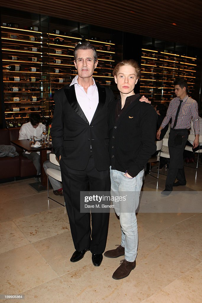 <a gi-track='captionPersonalityLinkClicked' href=/galleries/search?phrase=Rupert+Everett&family=editorial&specificpeople=206208 ng-click='$event.stopPropagation()'>Rupert Everett</a> and Freddie Fox attend an after party dinner for the press night of'The Judas Kiss' at Cucina Asellina on January 22, 2013 in London, England.