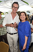 Rupert Everett and Hannelore Elsner attend the FFF reception during the Munich Film Festival at Praterinsel on July 2 2015 in Munich Germany