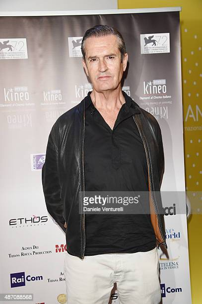 Rupert Everett attends a photocall for Kineo Award during the 72nd Venice Film Festival at Palazzo del Casino on September 6 2015 in Venice Italy