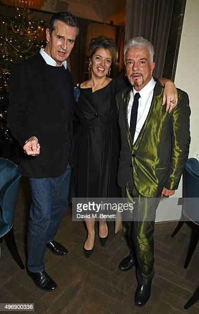 Rupert Everett Petronella Wyatt and Nicky Haslam attend Nicky Haslam's performance at Gigi's on November 12 2015 in London England