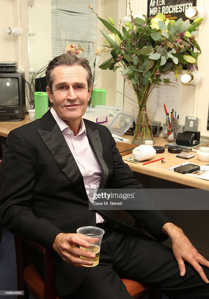 Rupert Everett sits in his dressing room during the press night for 'The Judas Kiss' at Duke of York's Theatre on January 22, 2013 in London, England.