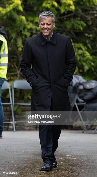Rupert Graves spotted during filming for the third series of BBC show Sherlock at a property on Cyncoed Road on April 25 2016 in Cardiff Wales