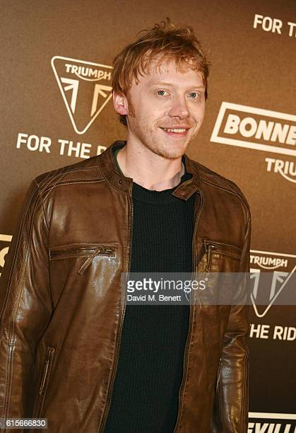 Rupert Grint attends the Global VIP Reveal of the new Triumph Bonneville Bobber on October 19 2016 in London England