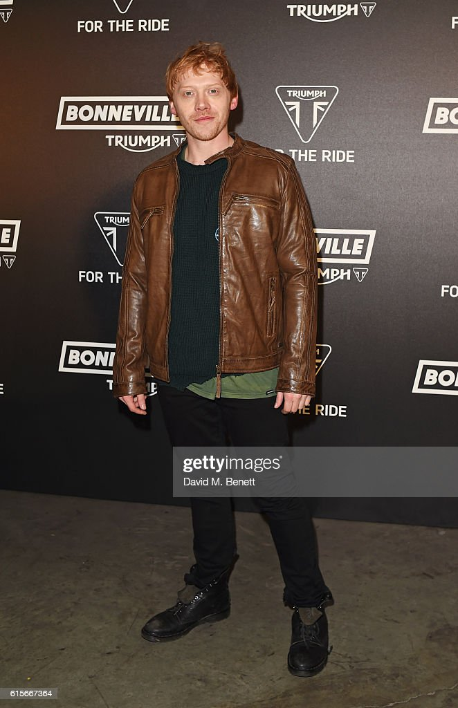 Rupert Grint attends the Global VIP Reveal of the new Triumph Bonneville Bobber on October 19, 2016 in London, England.