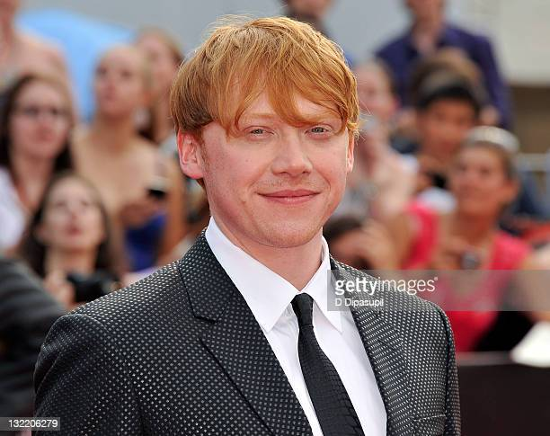 Rupert Grint attends the premiere of 'Harry Potter and the Deathly Hallows Part 2' at Avery Fisher Hall Lincoln Center on July 11 2011 in New York...