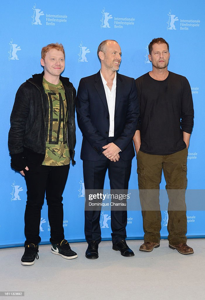 <a gi-track='captionPersonalityLinkClicked' href=/galleries/search?phrase=Rupert+Grint&family=editorial&specificpeople=206605 ng-click='$event.stopPropagation()'>Rupert Grint</a>, director <a gi-track='captionPersonalityLinkClicked' href=/galleries/search?phrase=Fredrik+Bond&family=editorial&specificpeople=4846770 ng-click='$event.stopPropagation()'>Fredrik Bond</a> and <a gi-track='captionPersonalityLinkClicked' href=/galleries/search?phrase=Til+Schweiger&family=editorial&specificpeople=740750 ng-click='$event.stopPropagation()'>Til Schweiger</a> attend 'The Neccessary Death of Charlie Countryman' Photocall during the 63rd Berlinale International Film Festival at the Grand Hyatt on February 9, 2013 in Berlin, Germany.