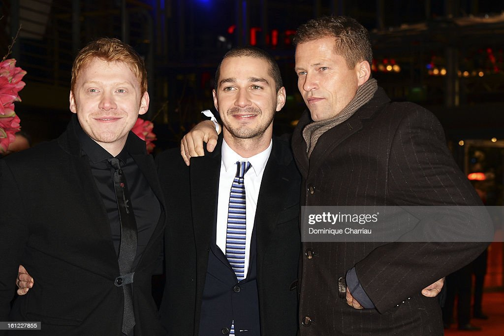 <a gi-track='captionPersonalityLinkClicked' href=/galleries/search?phrase=Rupert+Grint&family=editorial&specificpeople=206605 ng-click='$event.stopPropagation()'>Rupert Grint</a>, Shia LeBeouf and <a gi-track='captionPersonalityLinkClicked' href=/galleries/search?phrase=Til+Schweiger&family=editorial&specificpeople=740750 ng-click='$event.stopPropagation()'>Til Schweiger</a> attend the 'The Neccessary Death of Charlie Countryman' Premiere during the 63rd Berlinale International Film Festival at Berlinale Palast on February 9, 2013 in Berlin, Germany.