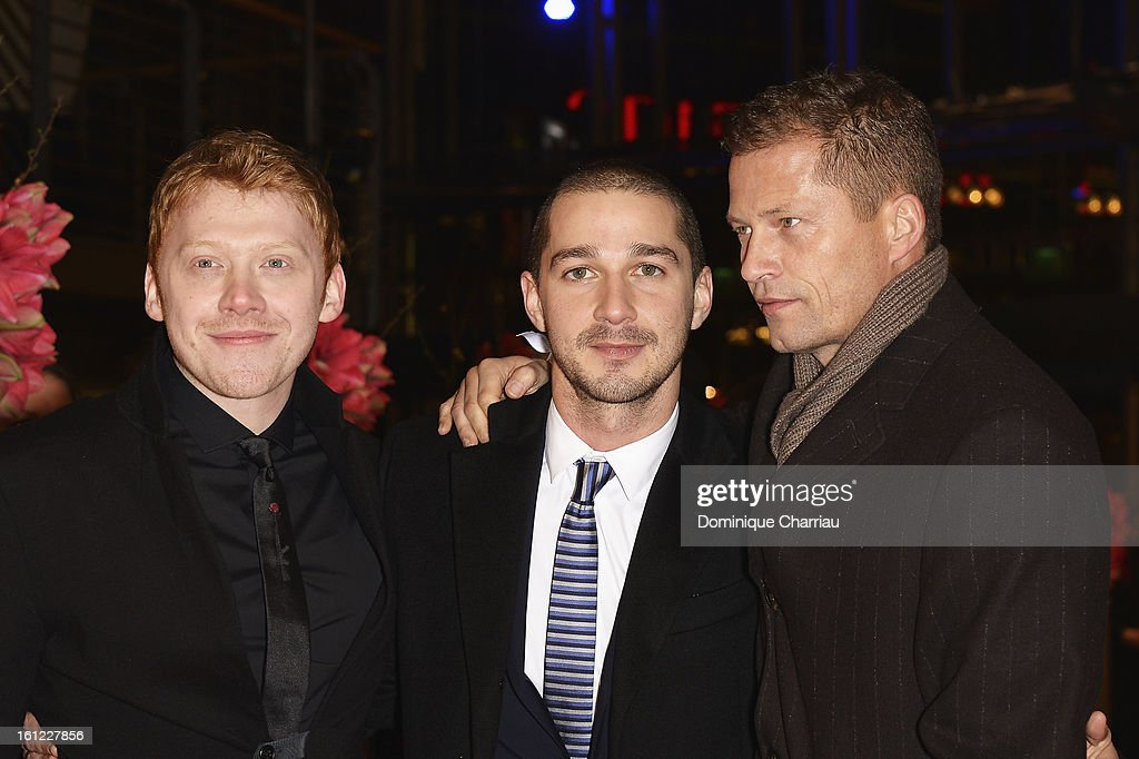 Rupert Grint, Shia LeBeouf and Til Schweiger attend the 'The Neccessary Death of Charlie Countryman' Premiere during the 63rd Berlinale International Film Festival at Berlinale Palast on February 9, 2013 in Berlin, Germany.