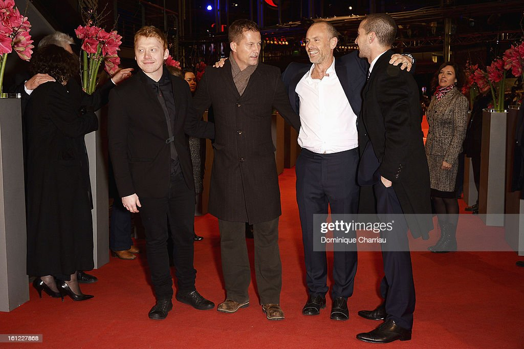 <a gi-track='captionPersonalityLinkClicked' href=/galleries/search?phrase=Rupert+Grint&family=editorial&specificpeople=206605 ng-click='$event.stopPropagation()'>Rupert Grint</a>, <a gi-track='captionPersonalityLinkClicked' href=/galleries/search?phrase=Til+Schweiger&family=editorial&specificpeople=740750 ng-click='$event.stopPropagation()'>Til Schweiger</a>, <a gi-track='captionPersonalityLinkClicked' href=/galleries/search?phrase=Fredrik+Bond&family=editorial&specificpeople=4846770 ng-click='$event.stopPropagation()'>Fredrik Bond</a> and Shia LeBeouf attend the 'The Neccessary Death of Charlie Countryman' Premiere during the 63rd Berlinale International Film Festival at Berlinale Palast on February 9, 2013 in Berlin, Germany.