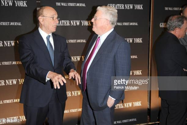 Rupert Murdoch and Dick Ravitch attend THE WALL STREET JOURNAL's 'GREATER NEW YORK' Launch Celebration at Gotham Hall on April 26th 2010 in New York...