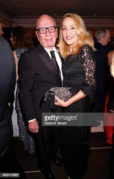 Rupert Murdoch and Jerry Hall attend the English National Opera Spring Gala 2017 at Rosewood London on March 27 2017 in London England