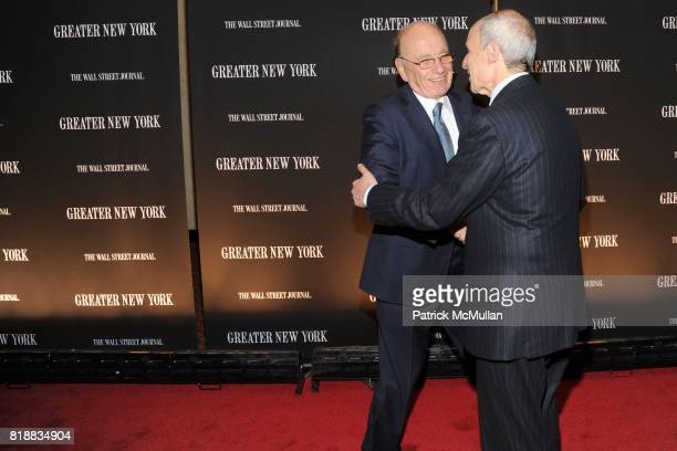 Rupert Murdoch and Jonathan Tisch attend THE WALL STREET JOURNAL's 'GREATER NEW YORK' Launch Celebration at Gotham Hall on April 26th 2010 in New...